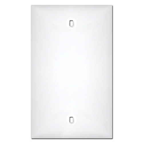 White Plastic 1 Blank Switch Plate Cover