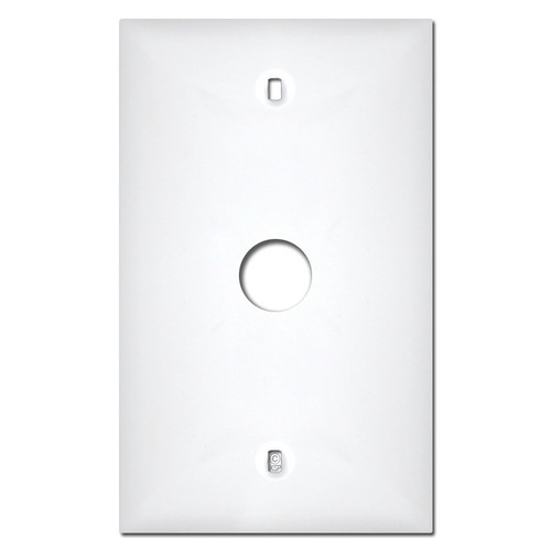 White Plastic Telephone Cable Switch Plate Covers