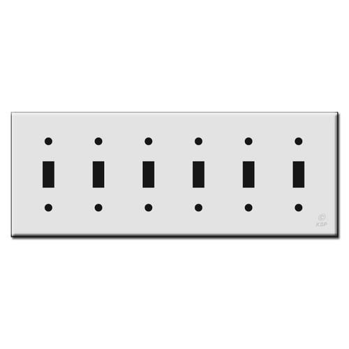 Six Toggle Plastic Light Switch Wall Plates