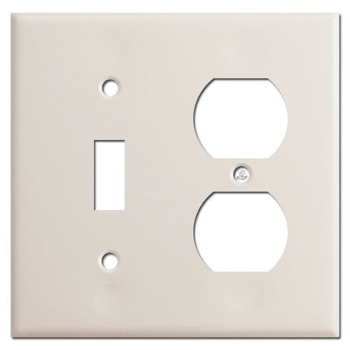 Toggle Outlet Cover Plate - Light Almond