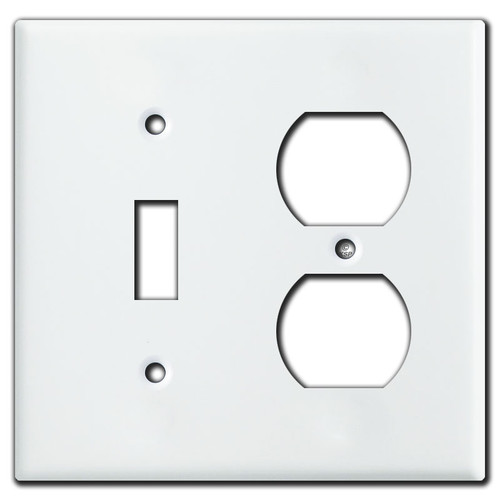 Toggle Outlet Cover Plate - White