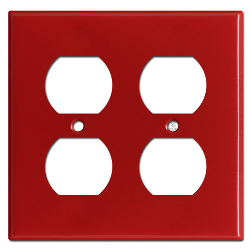 2 Duplex Outlet Cover - Red