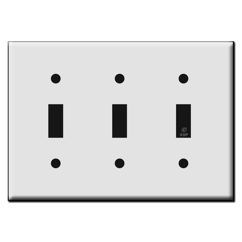 Triple Toggle Plastic Light Switch Wall Plates