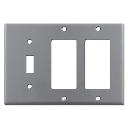 1 Toggle 2 Rocker Switchplate - Gray
