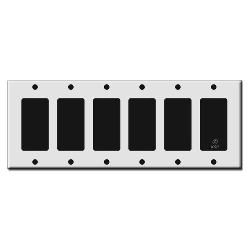 Six Rocker GFCI Plastic Light Switch Wall Plates