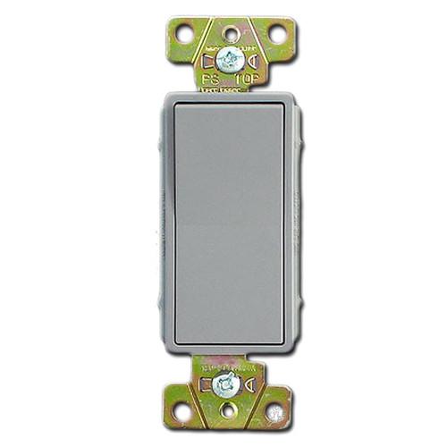 Gray 20 Amp Rocker Light Switches