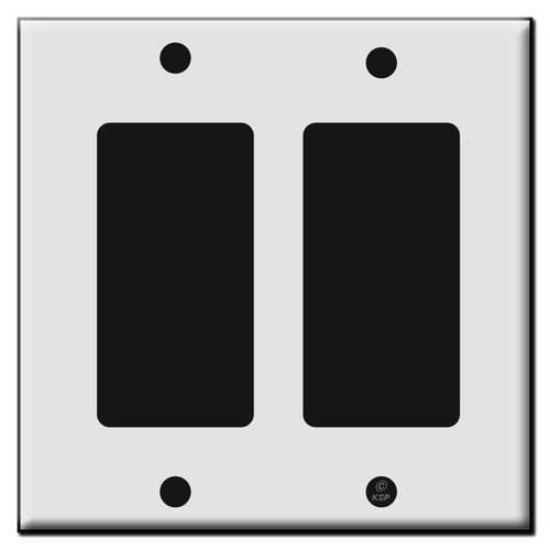 Two Rocker GFCI Plastic Light Switch Wall Plates
