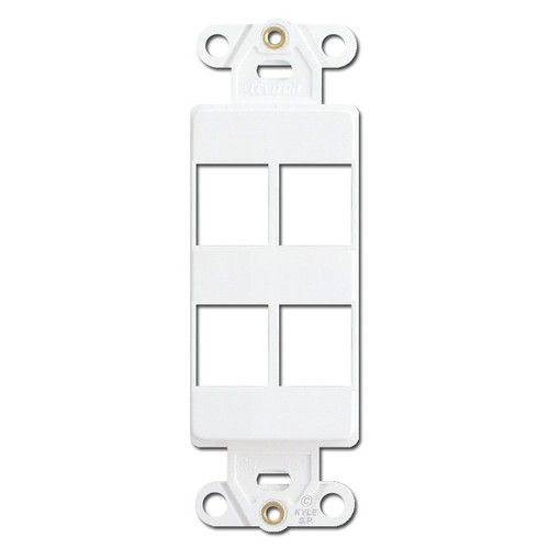 Leviton White Quickport 4 Port Frame for Modular Jacks