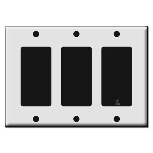Three Rocker GFCI Plastic Light Switch Wall Plates