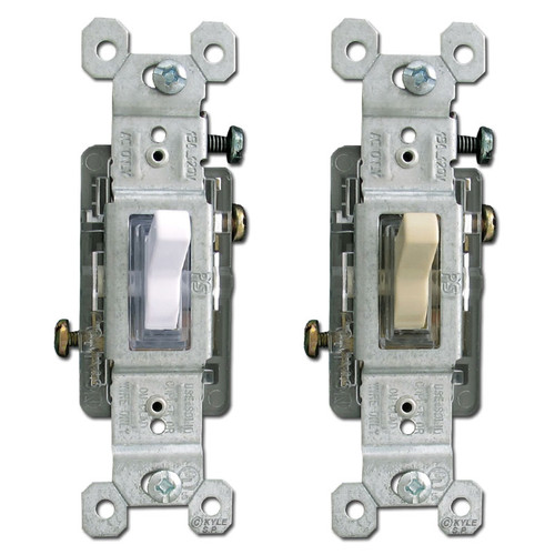 Pass & Seymour Lighted 15A Toggle Light Switches