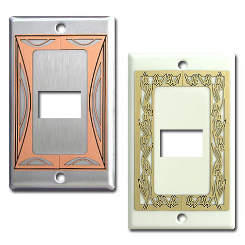 Decorative One GE Original Low Voltage Device Switch Plates