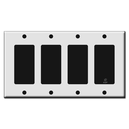 Four Rocker GFCI Plastic Light Switch Wall Plates