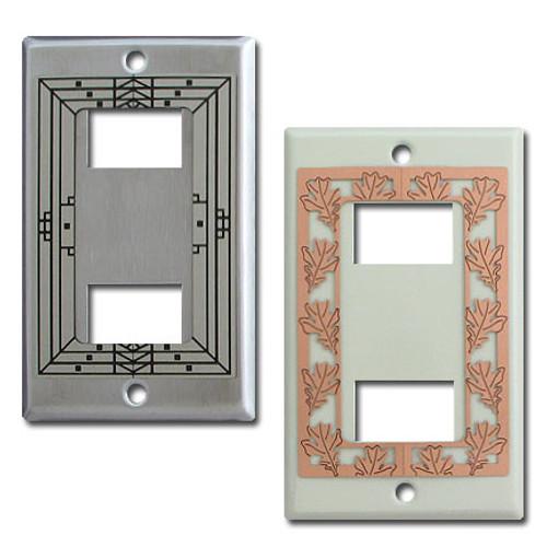 Decorative 2 GE Original Low Voltage Wall Switch Plates