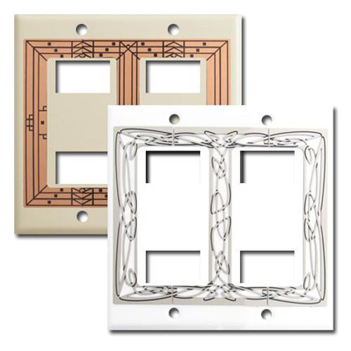 Decorator 4 GE Original Low Voltage Switch Wall Plates