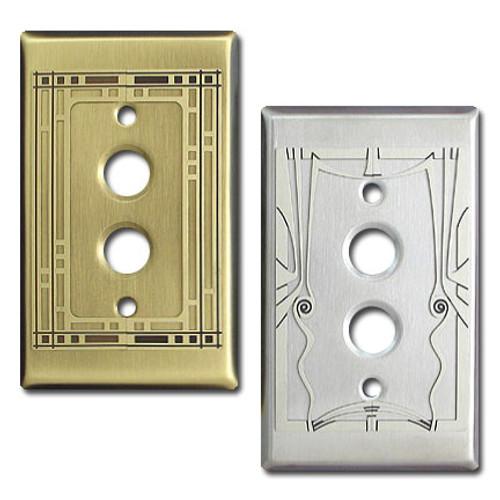 Push Button Decorative Single Light Switchplates