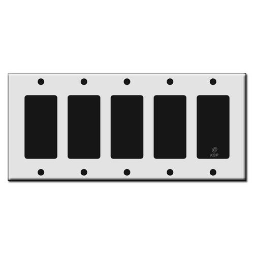 Five Rocker GFCI Plastic Light Switch Wall Plates