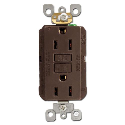 Brown 15 Amp GFI Receptacles