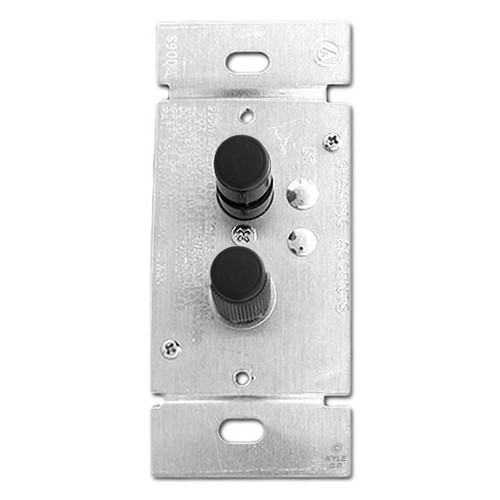Black Narrow Single Pole 600 Watt Trimmed Push Button Light Switch Dimmers