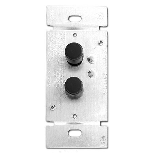 Black Narrow Push Button Dimmer Switch - 3 Way 600 Watt Trimmed