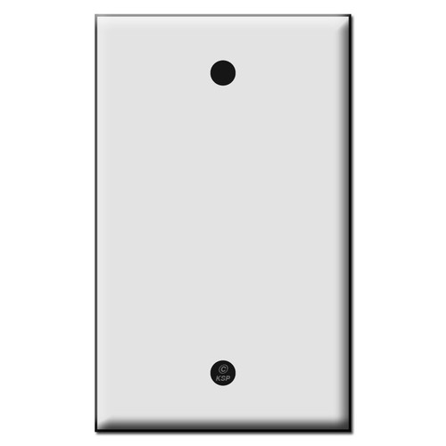 Single Blank Plastic Wall Plate Covers