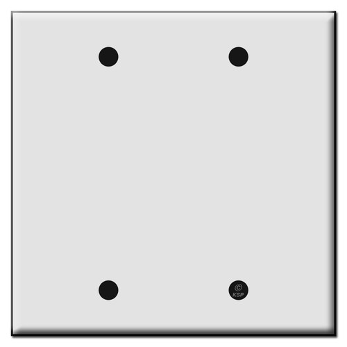 Double Blank Plastic Wall Plate Covers