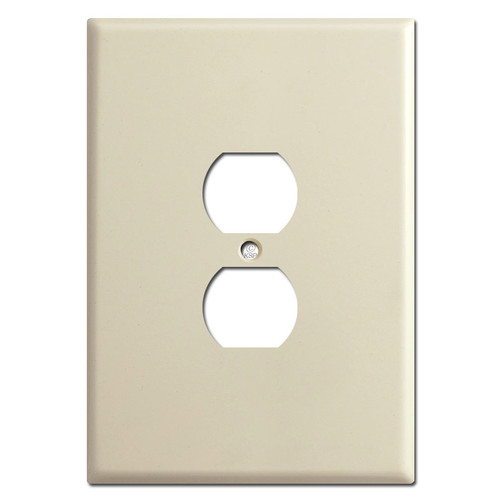 "Ultra Large 6.38"" Tall Oversized Outlet Receptacle Covers - Ivory"