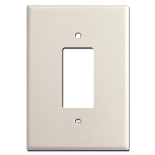 "Light Almond 6.38"" Oversized GFCI Rocker Wall Switch Plates"