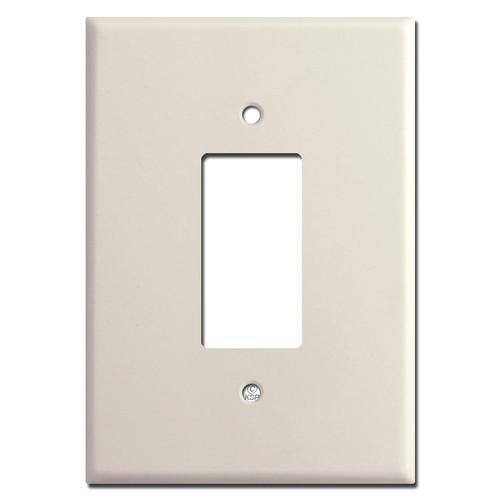 """Light Almond 6.38"""" Oversized GFCI Rocker Wall Switch Plates"""