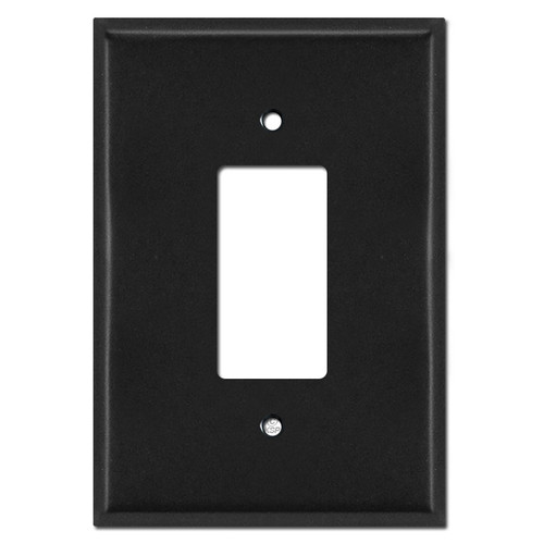 Extra Large Oversized GFCI Rocker Wall Plates - Black