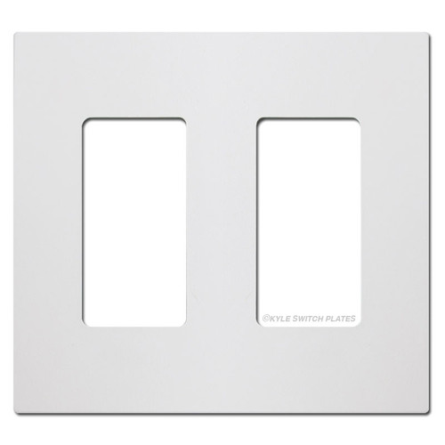 White Touch Plate Ultra Series 2 Gang Switch Plate