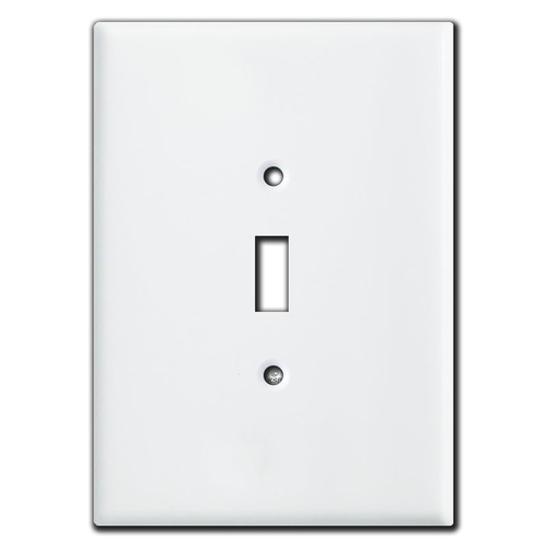 """Super Large 6.38"""" Oversized Toggle Light Switch Cover - White"""