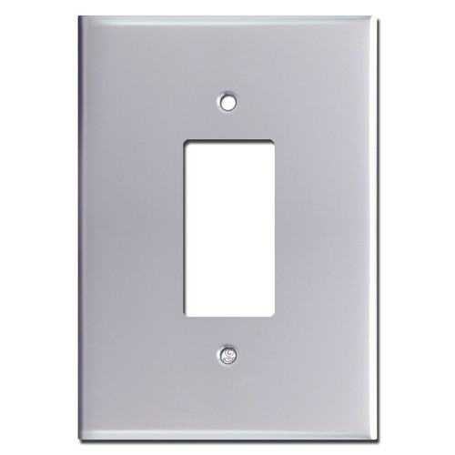 "6.38"" Extra Big Jumbo Rocker Wall Switch Cover - Polished Chrome"