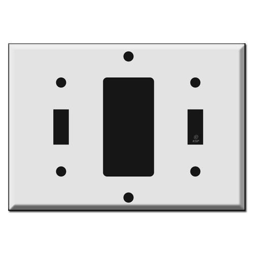 1 Toggle 1 Decora 1 Toggle Combo Light Switch Plate Covers