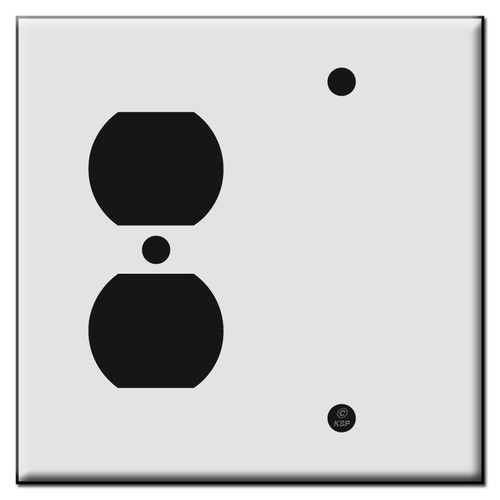 Single Duplex Outlet / Single Blank Plastic Wall Plate Covers