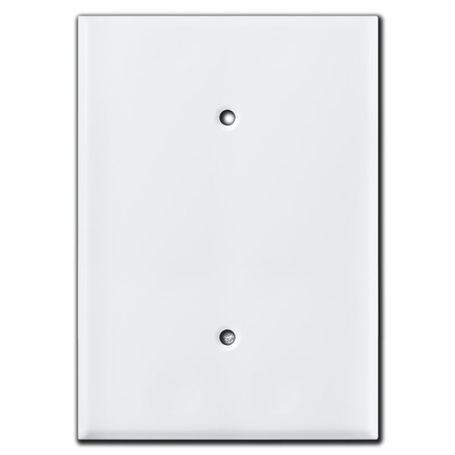 """White Over 6"""" Tall Oversized Blank Light Switch Cover Plate"""