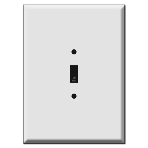 "Largest 7.5"" Oversized 1 Toggle Light Switch Wall Plate Covers"