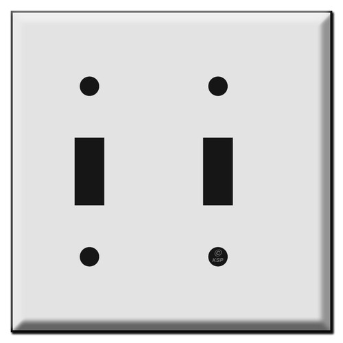 Narrow 2 Toggle Light Switch Plates