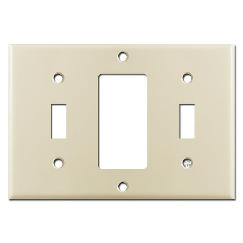 Ivory 1 Toggle 1 Rocker 1 Toggle Combo Light Switch Wall Plate