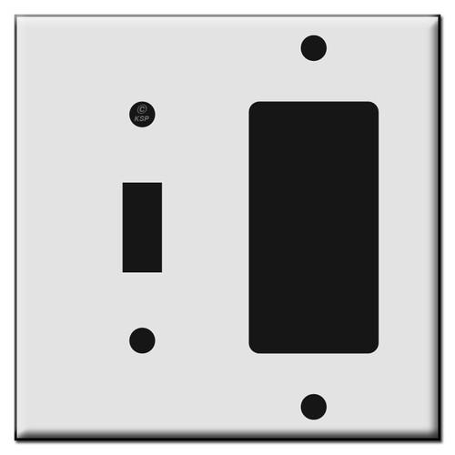 Single Decora / Single Toggle Plastic Switch Wall Plates