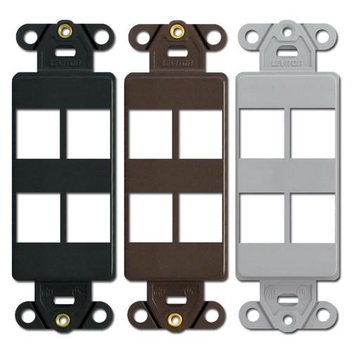 Leviton QuickPort 4 Port Modular Jack Frames