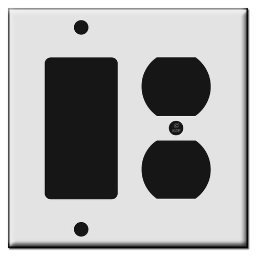 Single Decora / Single Duplex Receptacle Plastic Switch Plates