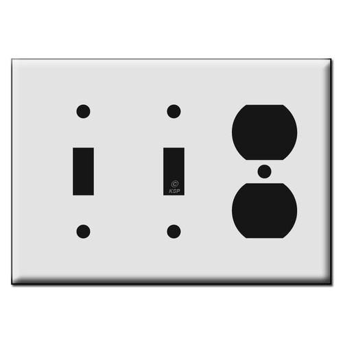 Duplex Outlet / Double Toggle Switch Plastic Wall Plates