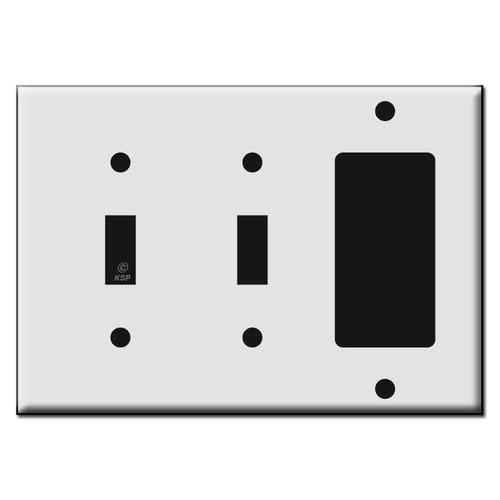 Single Decora / Double Toggle Switch Plastic Wall Plates
