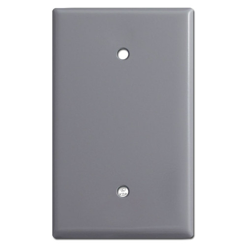 Oversized Blank Light Switch Cover Plate - Gray