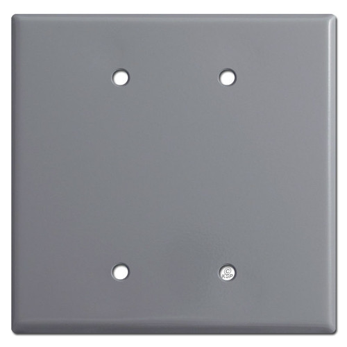 Oversized 2 Blank Wall Switch Plate - Grey