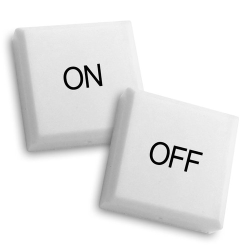 """ON"" and ""OFF"" button caps for Touch Plate Classic"
