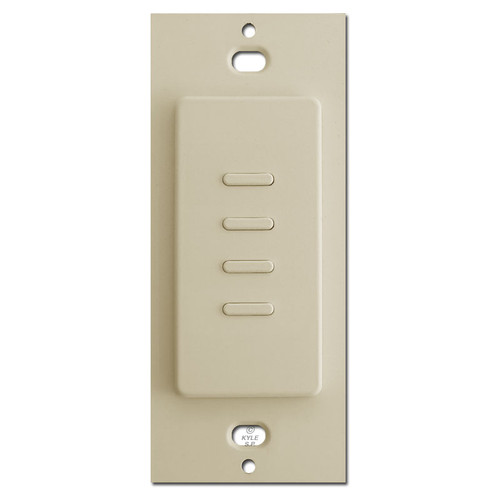 Touch Plate Ultra - Almond - 4 Buttons