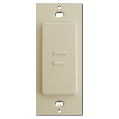 Almond Touch Plate Ultra 2-Button Switch