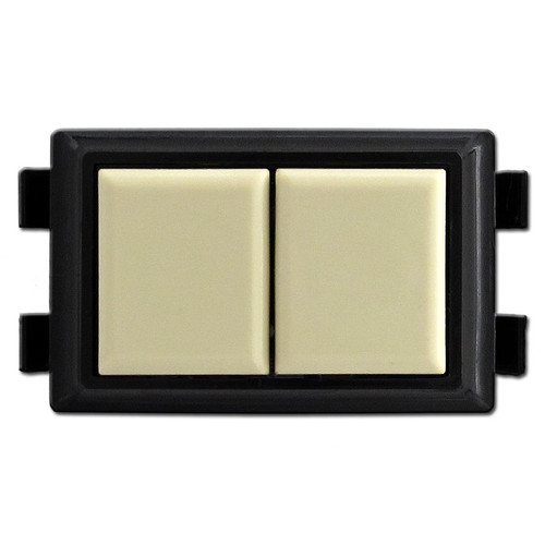 GE Low Voltage Lighted Locator Switch in Ivory