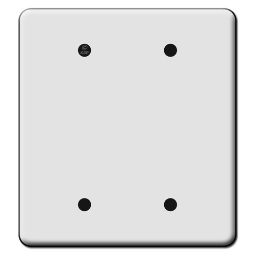 Tall 2 Blank Switch Plate Covers